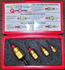 "QuikCenter 15317 4 pcs Broken Bolt or Stud Remover 1/4"",5/16"",3/8"",1/2"" USA made"