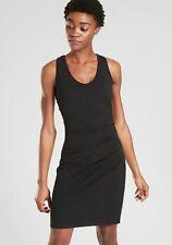 Athleta Della Fitted Tank Tee Dress Black NWT $89 XS