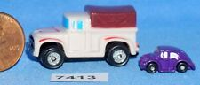 MICRO MACHINES '56 FORD PICK-UP INSIDERS With VW MICRO MINI Vintage Galoob