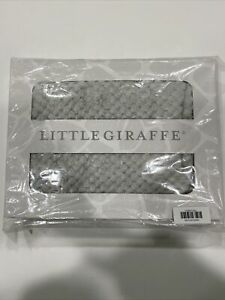 "Little Giraffe Honeycomb Blanket in Gray 36.5"" W x 30.5"" L 100% faux fur"