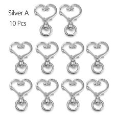 10pcs Key Ring Key Chain Lobster Clasp Trigger Swivel Clips Findings DIY Bags