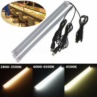 5V USB 35CM 24 SMD 5630 LED Under Cabinet Rigid Strip Hard Bar Light Tube  F Y