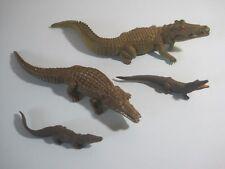 BRITAINS Plastic Zoo Animals: CROCODILE FAMILY x4 different Croc figures