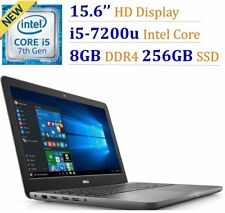 "New Dell Inspiron I5567-5274GRY 15.6"" HD I5-7100u 2.5GHz 8G DDR4 256G SSD Win10"