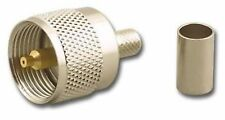 10 PAK CRIMP STYLE PL-259 UHF MALE SILVER  CONNECTORS FOR RG-8X LMR-240 RG-59U
