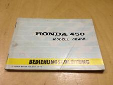 Honda CB 450 Manual de Instrucciones / Guía Del Conductor (1972)