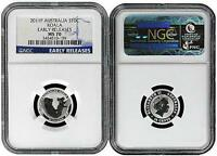 2011 Australia 1/10 Silver Koala NGC MS70 Early Releases Blue Label