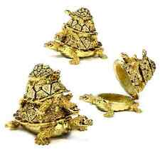 Turtle Family Trinket Jewelry Box w/ Austrian Crystals