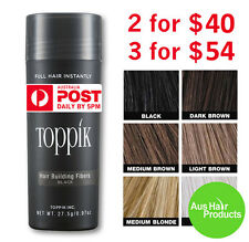 27.5g TOPPIK HAIR FIBERS 3 FOR ONLY $54 SPECIAL