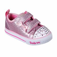 Skechers Kids Girls Twinkle Toes Itsy Bitsy Shoes Infant Canvas Low Glitter