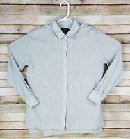 Pendleton Button Front Long Sleeve Casual Gray Shirt Men Size Large