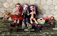 Monster High Dolls Lot of 3 OOAK Operetta Accessories Bags Purse Clothes Shoes
