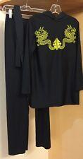 Children's Black Ninja Hooded Costume Boys/Girls Size Large