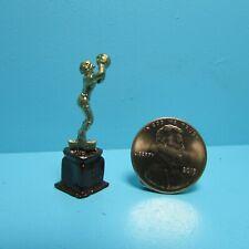 Dollhouse Miniature Metal Basketball Sport Trophy IS2745