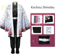 Anime Demon Slayer: Kimetsu no Yaiba Kochou Shinobu Cosplay Costume Unisex