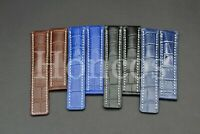 22-24 MM Alligator Croco Leather Strap Band Deployment Clasp Fits For Breitling