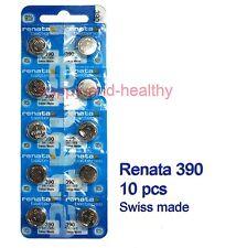 Renata SR1130S 390 Silver Oxide button Battery x 10 pcs Swiss Made FREE tracking
