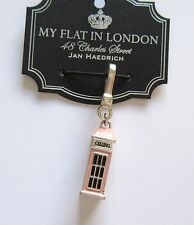 Brighton My flat In London RING THE FLAT  charm-phone booth silver pink