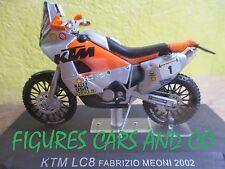 MOTO 1/24 collection GM KTM   LC8  FABRIZIO MEONI 2002 MOTORCYCLE PARIS DAKAR