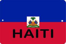HAITI flag Sign 8 x 12 Patriot Emblem ORIGINAL Version