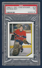 PATRICK ROY 86-87 O-PEE-CHEE STICKER 1986-87 NO 19 PSA 7  23353161