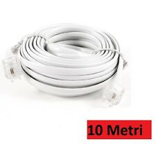 Telephone cable extension telephone cable 10 metre rj11 Connector Plug Modem HSB