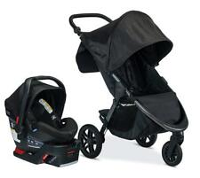 Britax B-Free Stroller & B-Safe Ultra Car Seat Travel System Midnight New!!