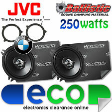 BMW 3 Series E46 JVC 13cm 500 Watt Rear Shelf Car Speakers & Sound Deadening Kit
