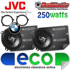 BMW 3 Series E46 JVC 13cm 500 Watt Rear Shelf Car Speakers & Sound Deadening Kit