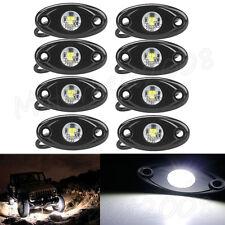 8x White CREE LED Rock Light Off-Road Underglow Foot Wheel Well Lights Trucks