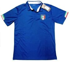 Italy Italia Soccer Calcio Futbol Jersey Blue / Flag Trim Polo Shirt Mens Medium