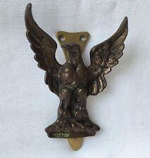 "Vintage American EAGLE BRASS DOOR KNOCKER metal approx. 4 5/8"" high patina"