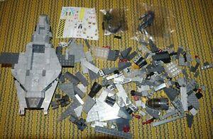 Halo Megablocks Incomplete UNSC Ships lot Parts Figures, Decals Mega Bloks