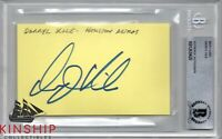 Darryl Kile signed 3x5 Index Card Beckett BAS Slabbed Auto d.2002 Cardinals C621