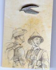 ANZAC GUM LEAF & FERN FROND LAPEL PIN - THE GREAT WAR CENTENARY -  2015 NEW
