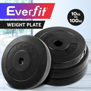 Everfit Barbell Weight Plates Set 10-100KG Gym Home Bench Press Fitness Exercise