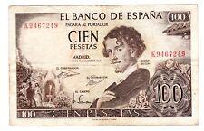 Espagne SPAIN ESPANA Billet 100 PESETAS 1965 P150 BON ETAT