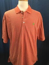 ASHWORTH Weather System Mens Orange Golf Dry-Tech Polo Shirt - Sz XL