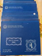 NL* ITALIA Divisionale 1981 CON 500 Lire ARGENTO CARAVELLE FDC SET Zecca