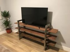 3 Tier custom made Wood And Metal rustic tv stand bookcase or Office Organizer