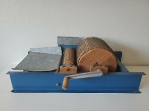 Antique Drum Carder Blue