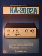 Kenwood KA-2002A Sales Brochure Factory Original The Real Thing