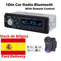 Autoradio radio de coche Stereo MP3 Player USB SD AUX 1 DIN FM Audio Bluetooth