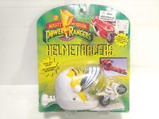 Mighty Morphin Power Rangers MMPR Helmet Racers White Ranger Action Figure t1718