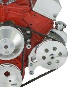 Small Block Chevy Power Steering Bracket Long Water Pump Saginaw SBC EWP 327 350