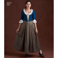 S8161 Sewing Pattern Georgian 18 Century Costume American French Revolution