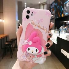 Cartoon Pink Melody Hello Kitty Bracket Couple Phone Case Cover For iPhone11 Pro