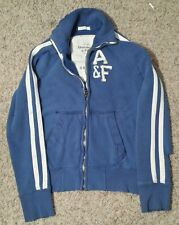 Abercrombie Fitch Mens Extra Small Muscle Blue White Striped Racer Jacket