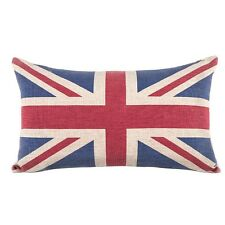 Linen Cotton Rectangle Home Decor Throw Pillow Case Sofa Cushion Britain UK Flag
