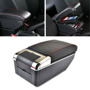 Fit For Ford Fiesta Mk7 11-17 Center Console Storage Box Armrest Box Rotatable